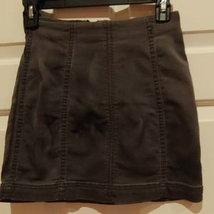 Free People gray denim mini skirt